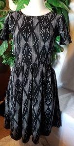 🆕️ Lularoe Amelia Dress Black/White accents